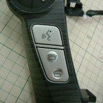 プリウスα ステアリングスイッチ ダイノック木目ラッピング&LED打ち換え カーラッピング(愛知県・岐阜県・三重県・名古屋)