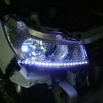 スズキ パレットSWのヘッドライトにLEDテープ装着 (愛知県・岐阜県・三重県・名古屋)