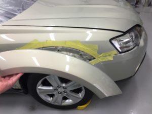 レガシィ アウトバック オーバーフェンダー 塗装 ガラスコーティング