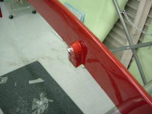 スポイラー修理価格は、バカになりませんのでプロテクションフィルムで傷防止