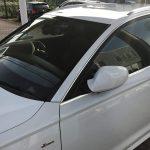 断熱フィルム(車両用)をアウディのフロント3面(フロントガラス・運転席・助手席)に施工